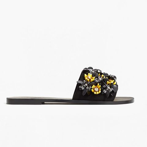 Flower Appliqué Sandals
