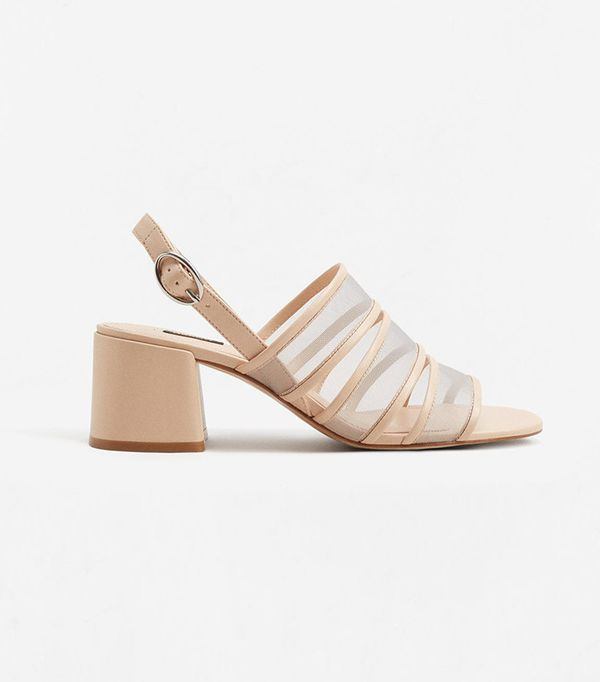 Mango See-Through Straps Sandals
