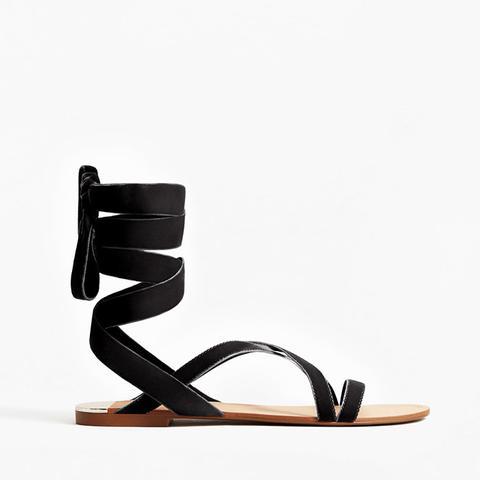 Velvet Strappy Sandal
