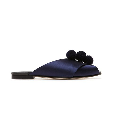 Pompom Sandal in Midnight
