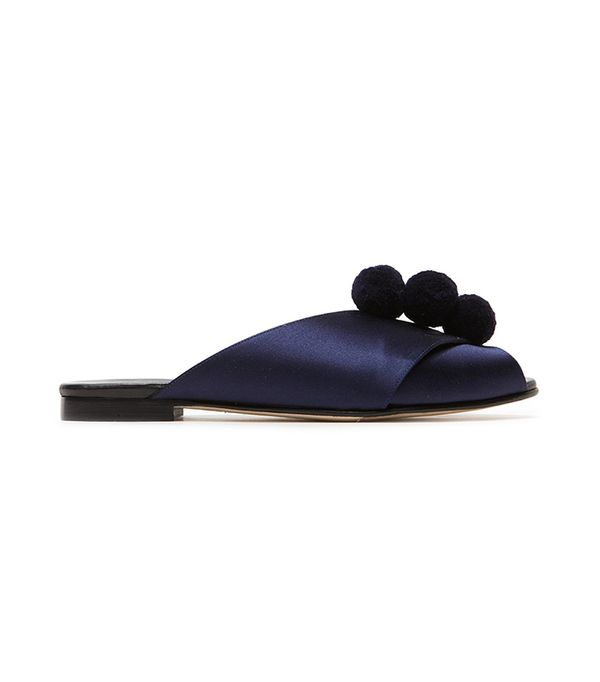 Trademark Pompom Sandal in Midnight