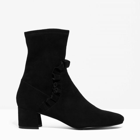 Frill Suede Boots