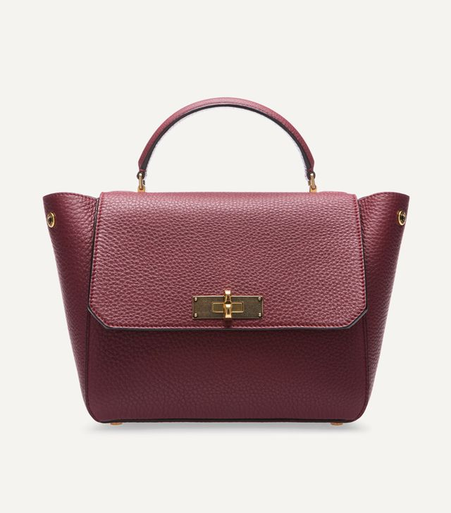 Bally B Turn Small Burgundy Handbag
