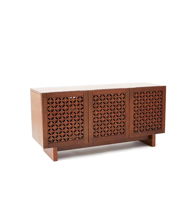 West Elm Carved Media Console, Bourbob
