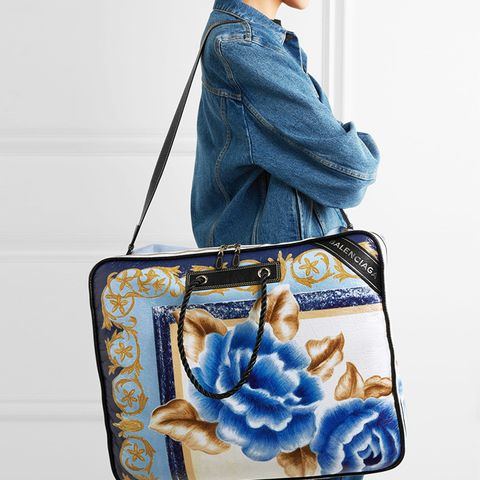 Blanket XL Printed Textured-Leather Tote