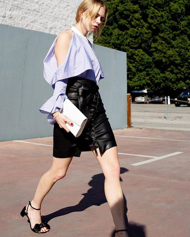 When it comes to showing a little bit of skin, a cold-shoulder is one chic way to do it. According to Net-a-Porter's Sarah Ruston, it's flattering on all women, because everyone's shoulders look...