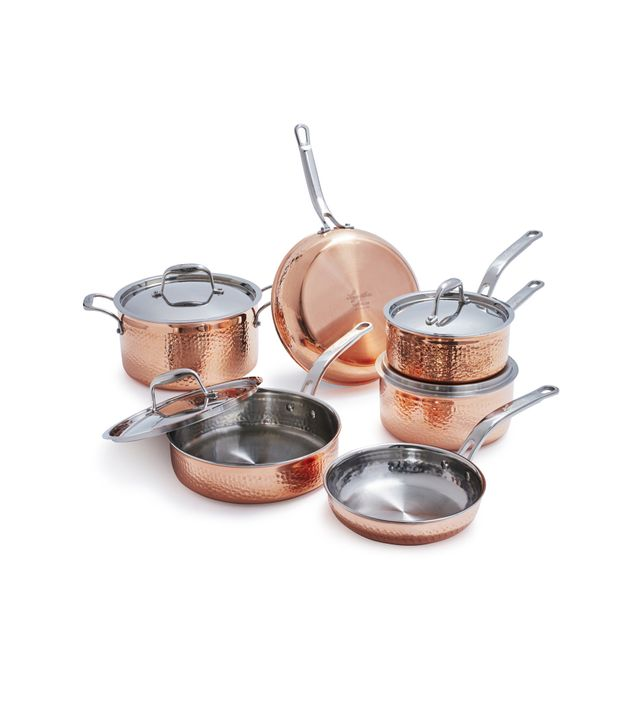 Lagostina Martellata Hammered Copper 10-Piece Set