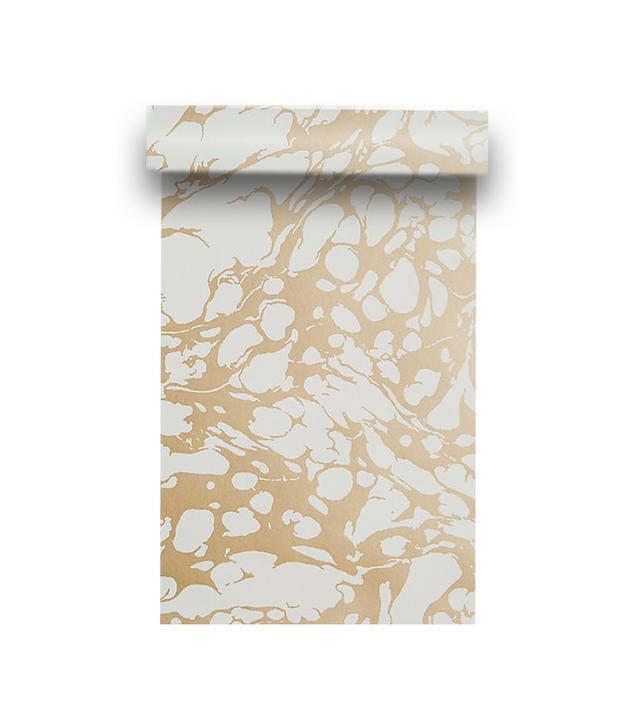 Anthropologie Marbled Metallic Wallpaper