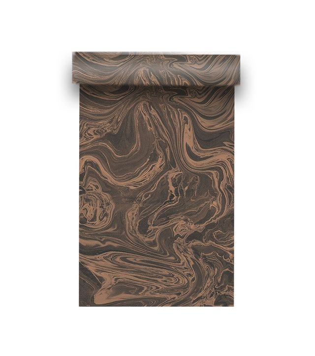 Graham & Brown Marbled Charcoal and Rose Gold Wallpaper