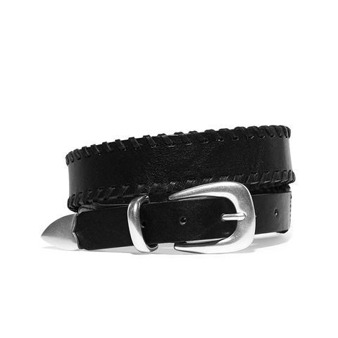 McKenzie Whipstitched Leather Belt
