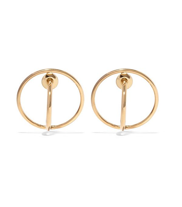 mom and me matching outfits - Charlotte Chesnais Saturn Gold-Dipped Earrings