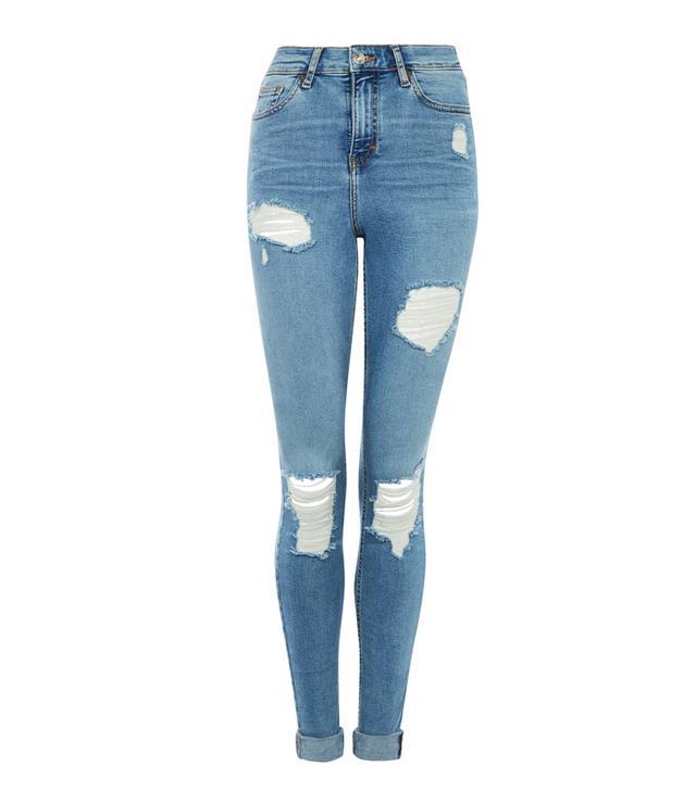"Topshop 36"" Super Rip Jamie Jeans"