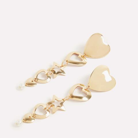 Long Two-Tone Earrings