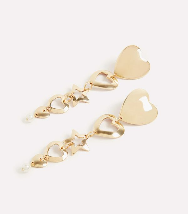 New style icons: Uterque gold earrings