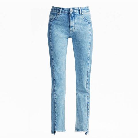 Remix Step-Hem Straight Leg Jeans
