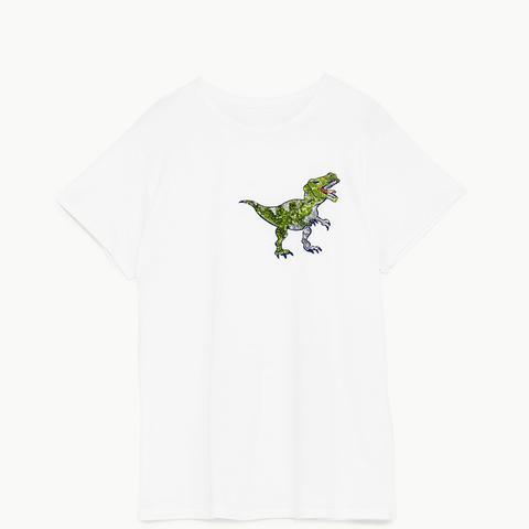 Dinosaur Applique Short Sleeve T-Shirt