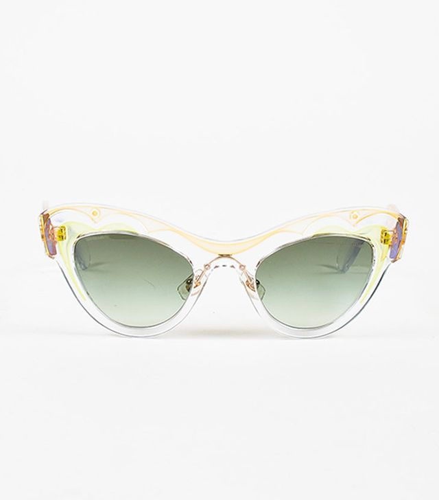 Miu Miu Clear Orange Cat Eye Sunglasses