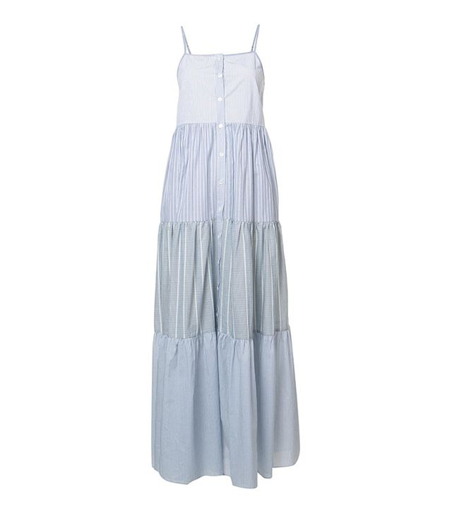 Sea Pleated Dress