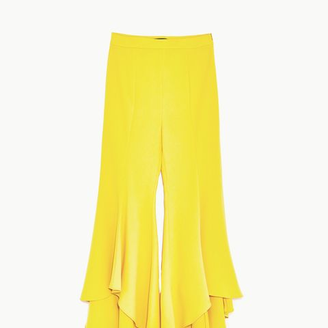 Asymmetric Flare Trousers