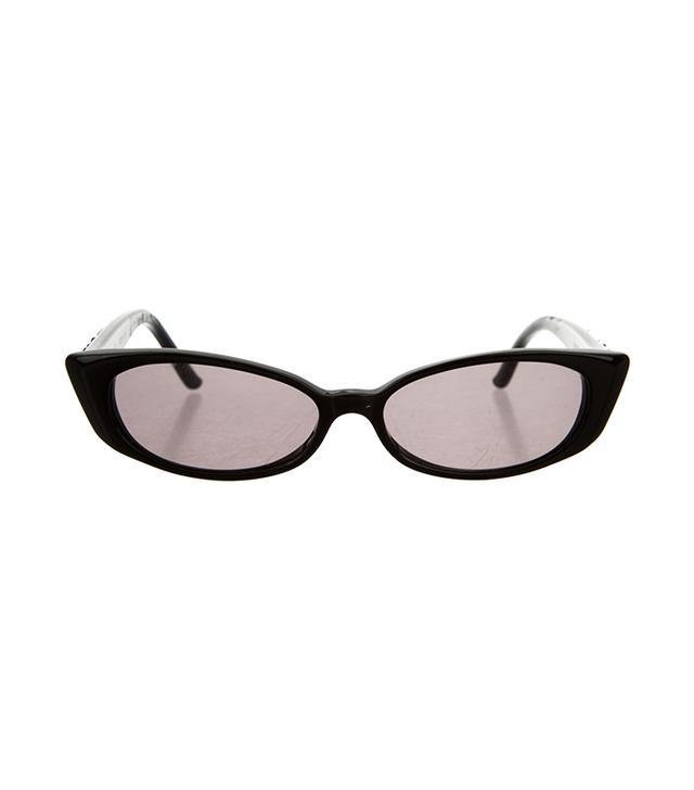 Judith Leiber Crystal-Embellished Cat-Eye Sunglasses