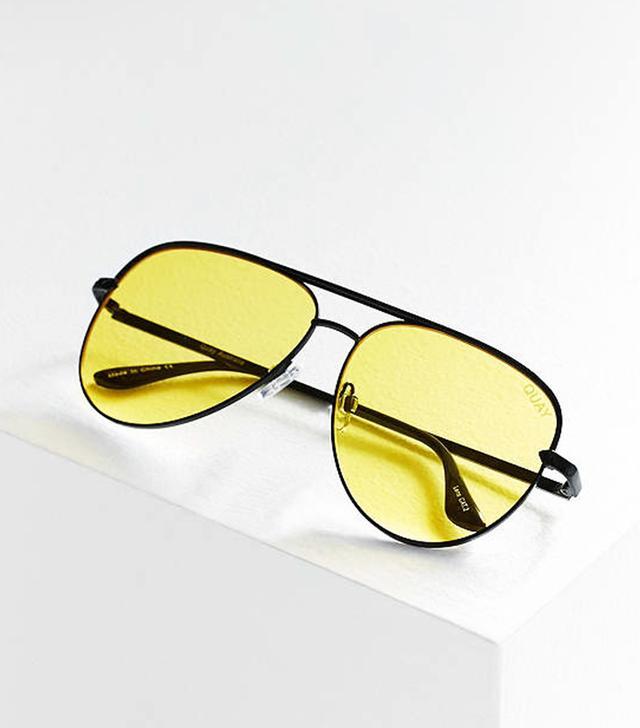 Quay x Desi Perkins Sahara Aviator Sunglasses