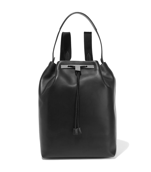 stylish backpacks - The Row Leather backpack