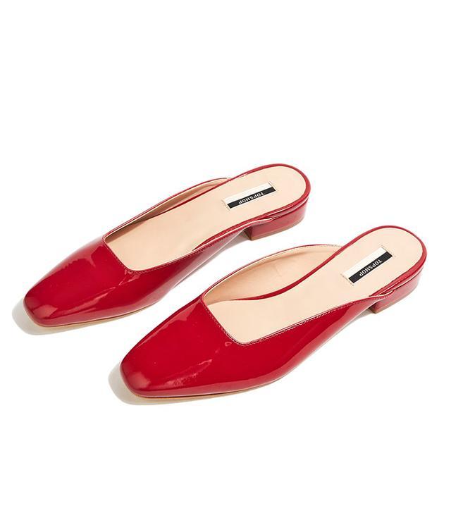 Topshop Kat Squared Flat Mule Sandals