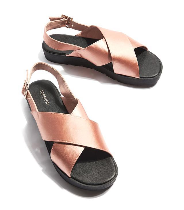Topshop Holla Satin Sandals