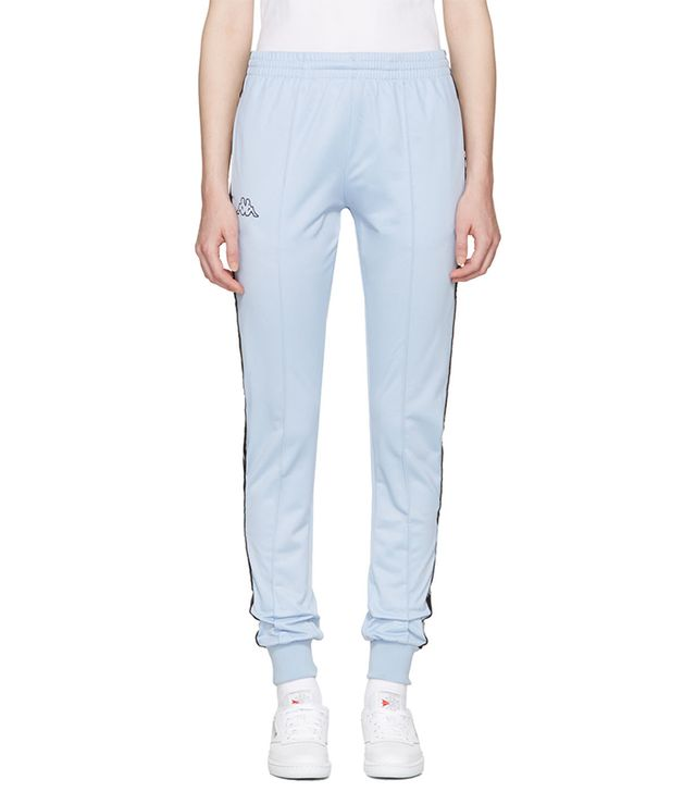 Kappa Ssense Exclusive Blue Logo Track Pants