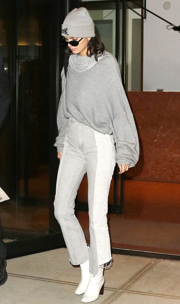 kendall jenner grey outfit