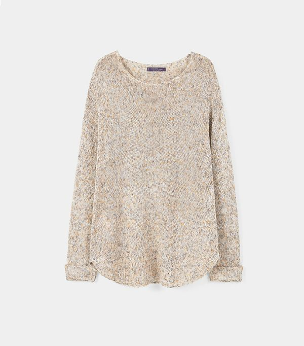 Violeta Flecked Linen-Blend Sweater