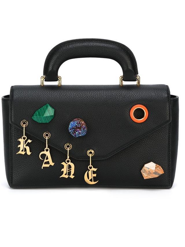 Christopher Kane Devine Stone Charm Shoulder Bag
