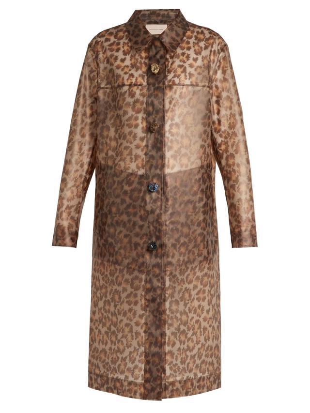 Christopher Kane Leopard-Print Rubber Coat