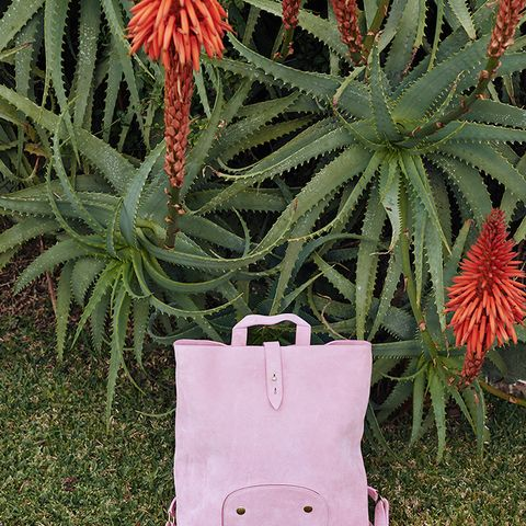 Mia - Suede Backpack - Pink
