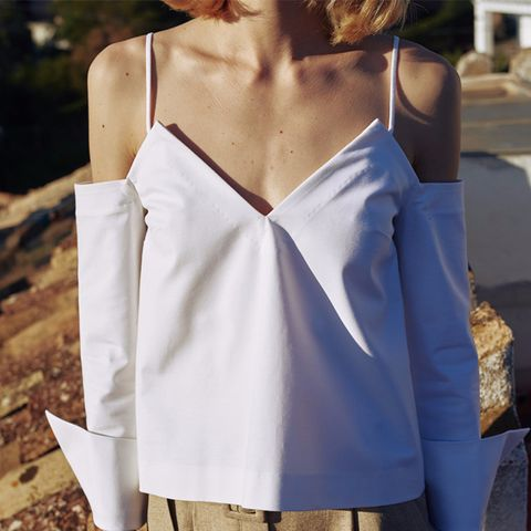 Roos - Camisole Shirt Top - White