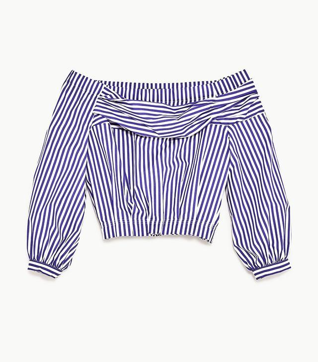 Zara off-the-shoulder blouse