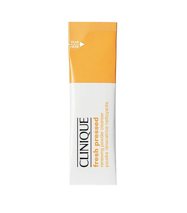 Carbonated cleanser: Clinique Fresh Pressed Renewing Powder Cleanser with Pure Vitamin C