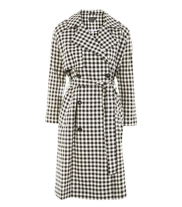 Topshop trends 2017: gingham trench coat