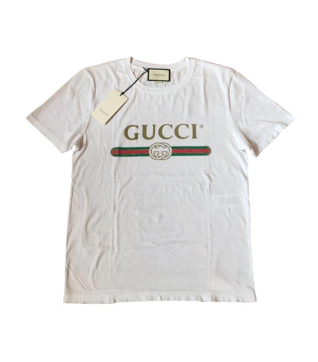 Gucci White Cotton T-shirt