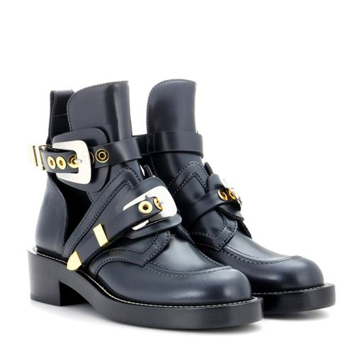 Ceinture Leather Cut-Out Boots
