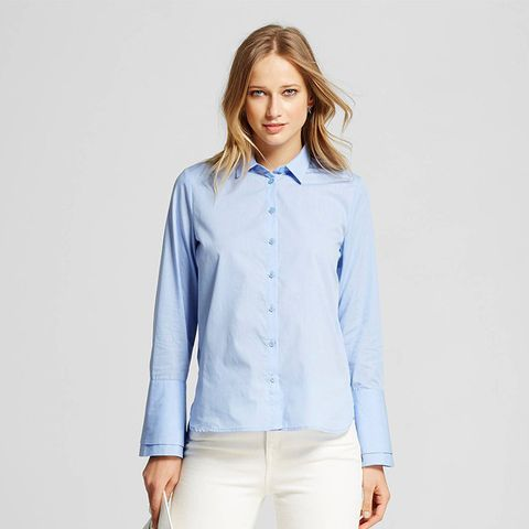 Women's Layered Cuff Button Up
