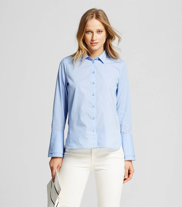 Who What Wear Women's Layered Cuff Button Up