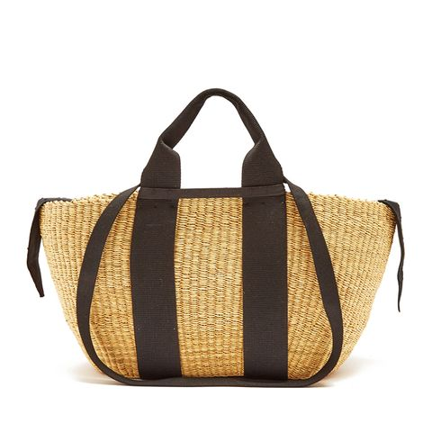 George Woven-Straw Tote