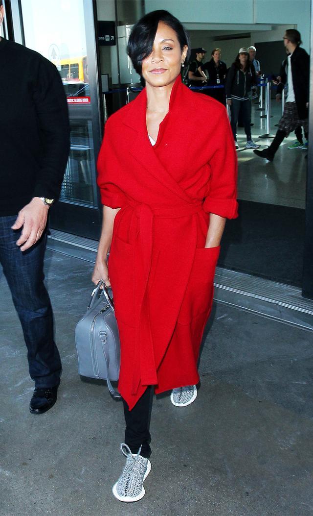 Celebrities wearing Yeezys: Jada Pinkett Smith