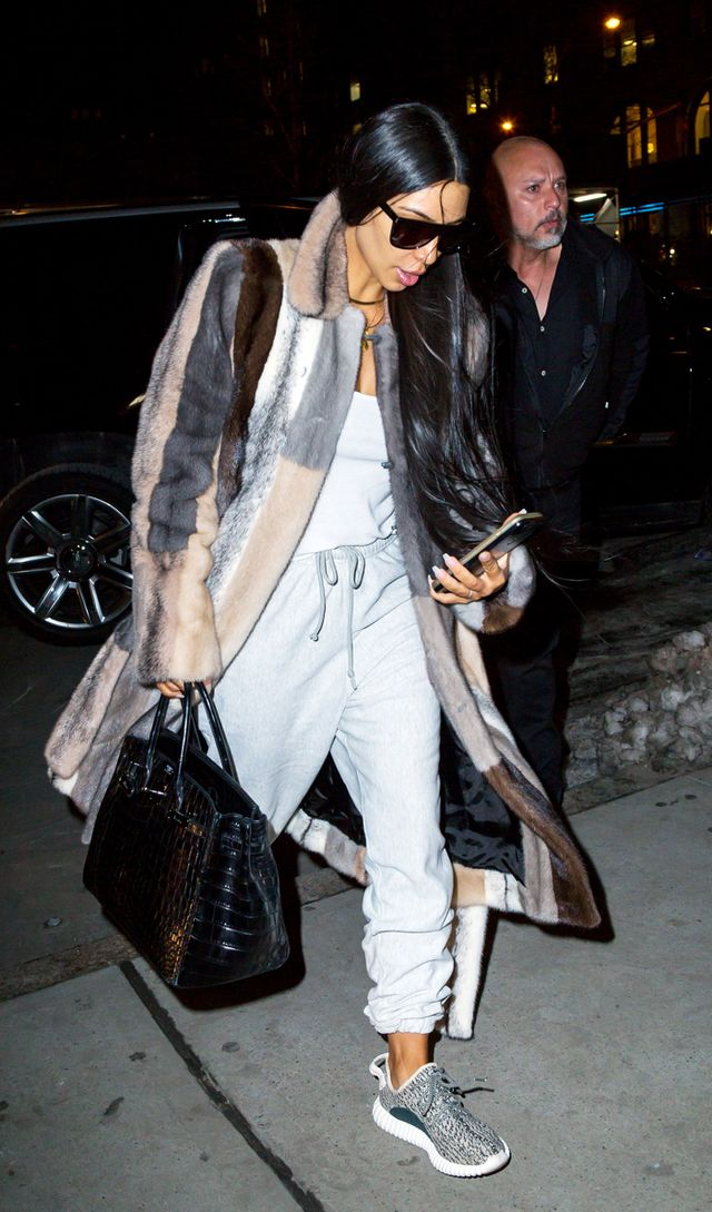 Celebrities wearing Yeezys: Kim Kardashian