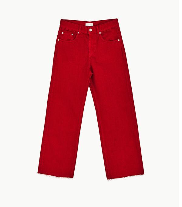 Colour Trends 2017: Red Zara culottes