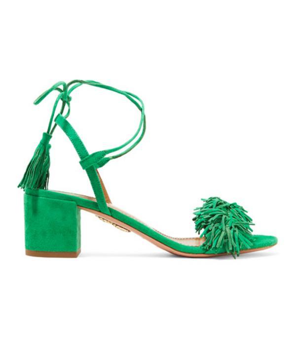 Colour Trends 2017: Green Aquaurra shoes