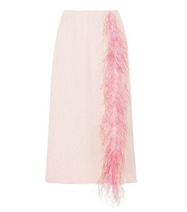 Colour Trends 2017: Prada feather trimmed skirt
