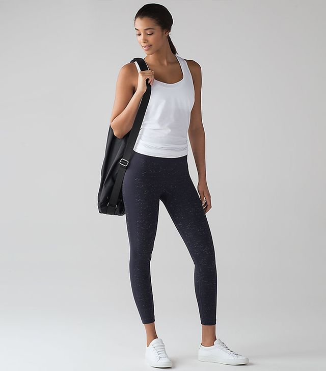 Lululemon Free to Flow 7/8 Tights in Midnight Navy/White