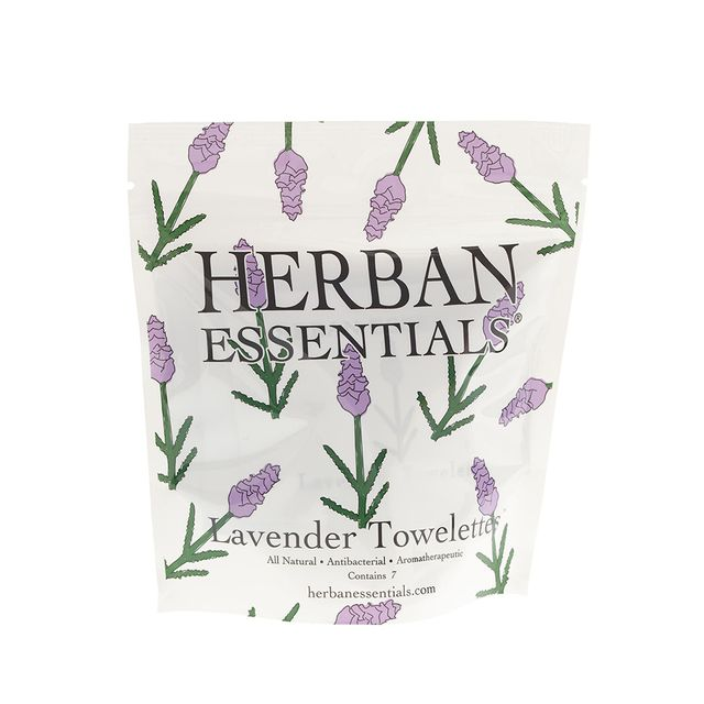 Herban Essentials Lavender Towelettes - Jennifer Lopez Makeup Routine